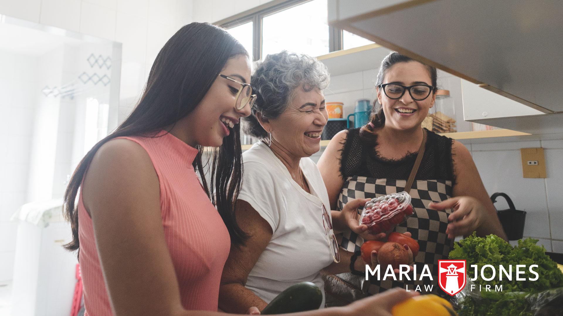 una familia de inmigrantes en la cocina